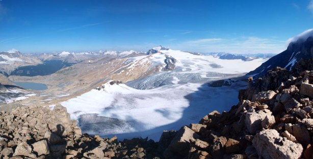 Panorama of Waputik Icefield