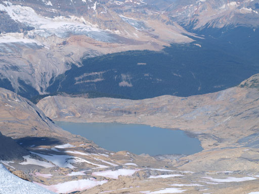 This lake is unnamed. It drains the more famous Takakkaw Falls
