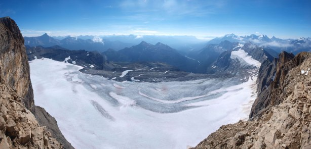 Panorama view of Beth Glacier on the other side