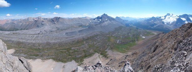 Panorama shot of Wilcox Pass area