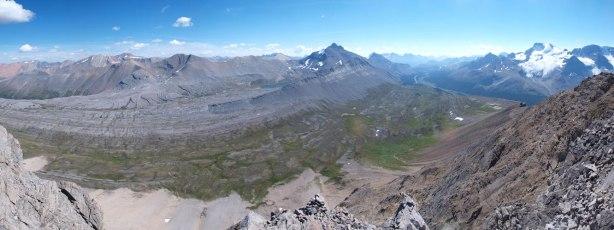 Panorama shot of Wilcox Pass area