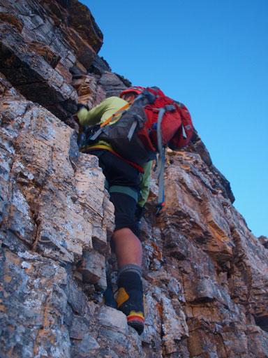 The climbing starts