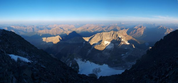 Panorama view from the summit