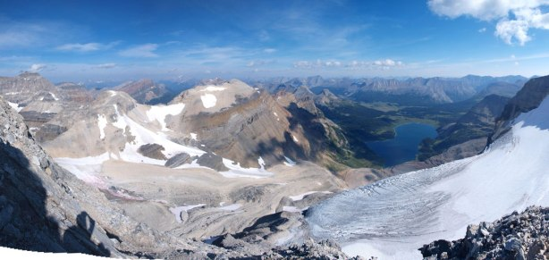 Panorama view from the lower N. Ridge