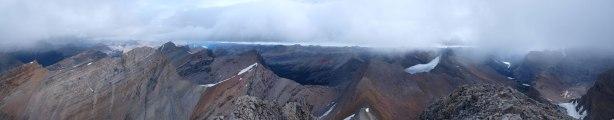 Summit panorama looking east.