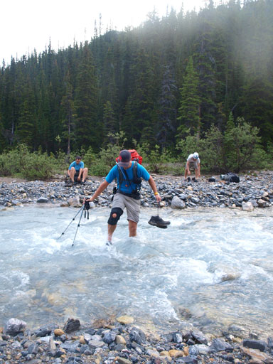 Vern crossing the (cold) Dolomite Creek
