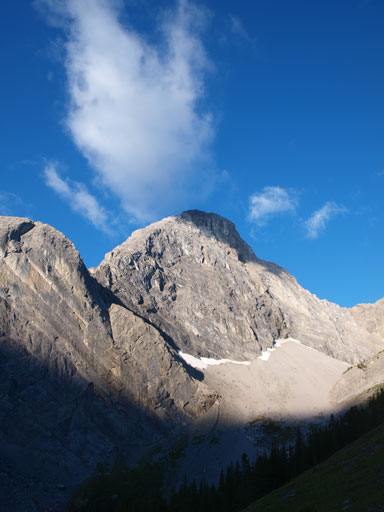 The impressive north face of Mount Nestor