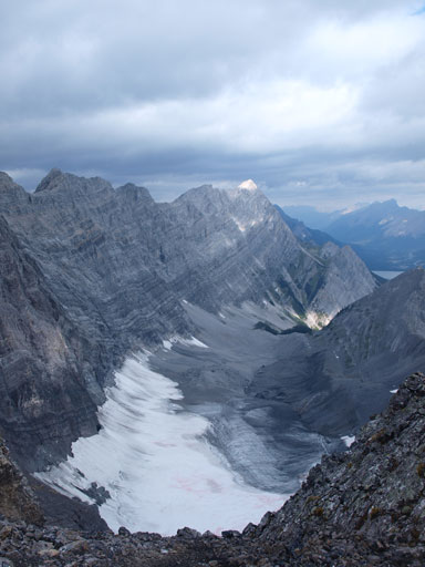Looking down towards Old Goat Glacier from the East ridge