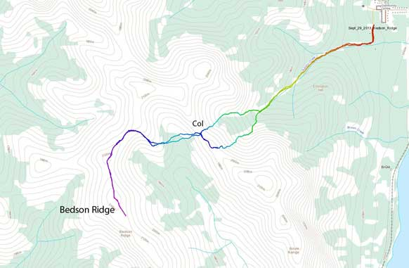 Bedson Ridge scramble route