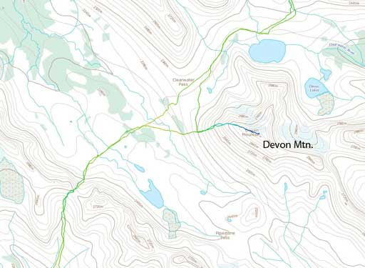 Devon Mountain scramble route