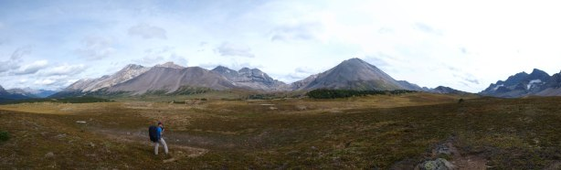 Panorama from the upper Siffleur River Valley