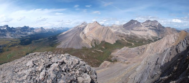 Panorama view from the west ridge