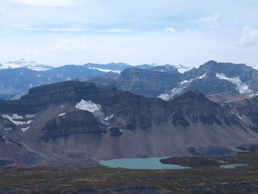 There's a beautiful lake beneath Quartzite Peak