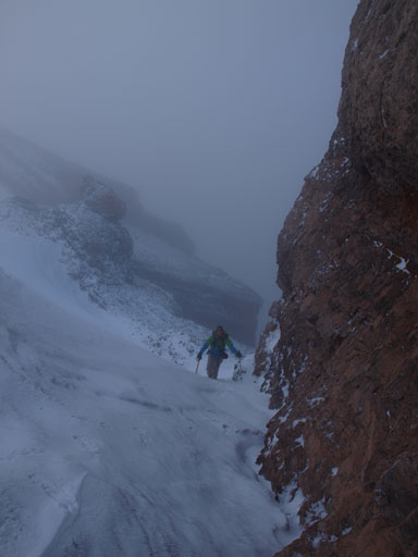 More about the south ridge. This is still before the crux