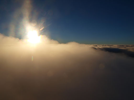 On top of the clouds!