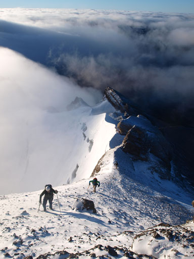 Eric, Vern, and Ben, approaching the summit of Mount Willingdon