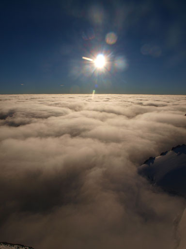 The clouds and the morning sun
