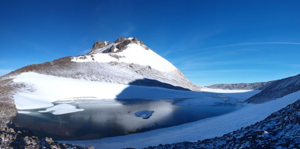 A lovely alpine tarn at Willingdon/Crown col