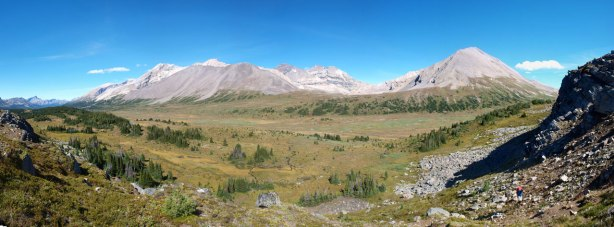 Panorama of upper Siffleur River Valley