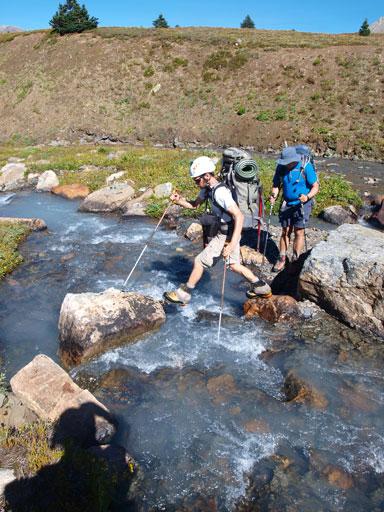 Hopping a creek