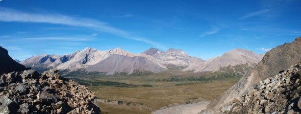 Panorama from Quartzite Col