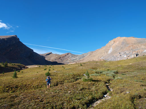 Back down the south side of Quartzite Col