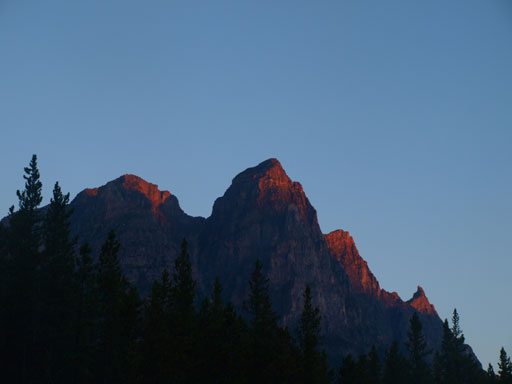 Dragon Peak seen from Athabasca Crossing Campground