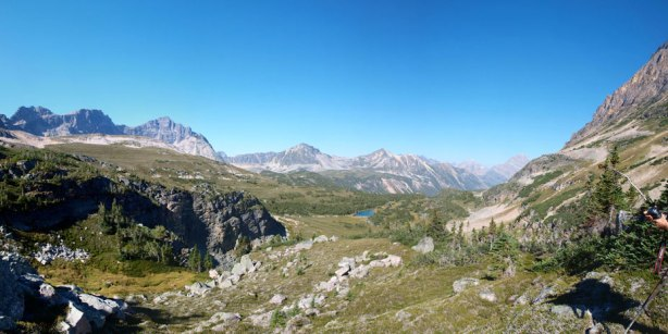 Panorama of this lovely alpine area