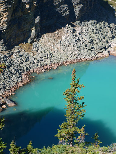 A closer look. The colour reminds me Lake O'Hara area