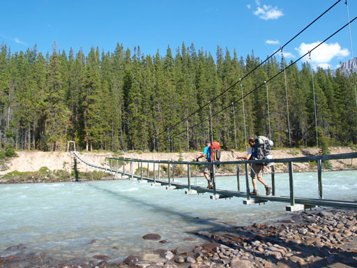 Crossing Athabasca River