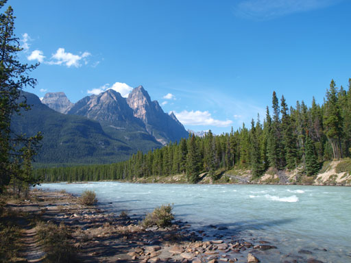 Dragon Peak and Athabasca River