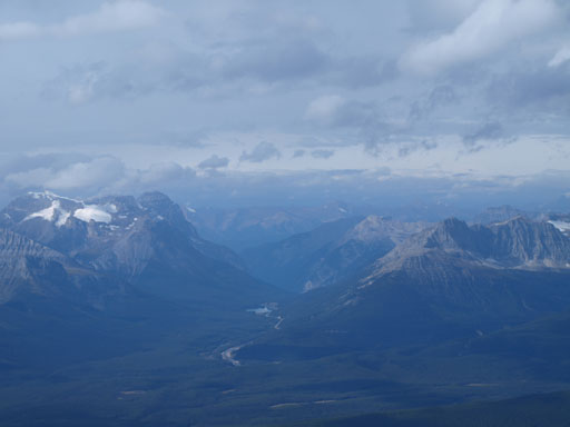 Kicking Horse Pass, with Cathedral and Stephen on its left