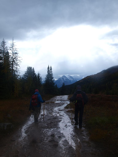 The long and wet hike-out