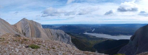 Panorama looking back towards Brule