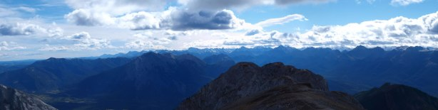 Looking south towards Fiddle Range and Miette Range