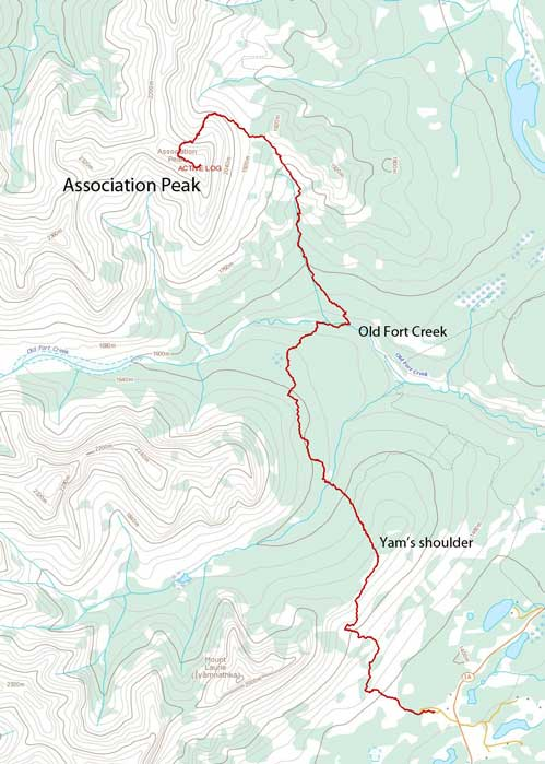 Association Peak scramble route