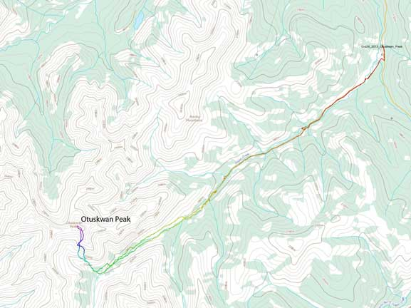 Otuskwan Peak scramble route