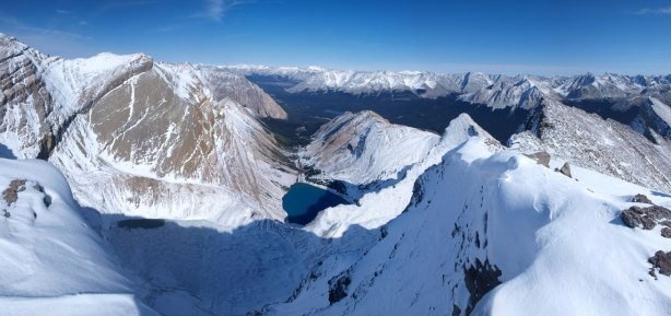 Panorama view from the false summit.