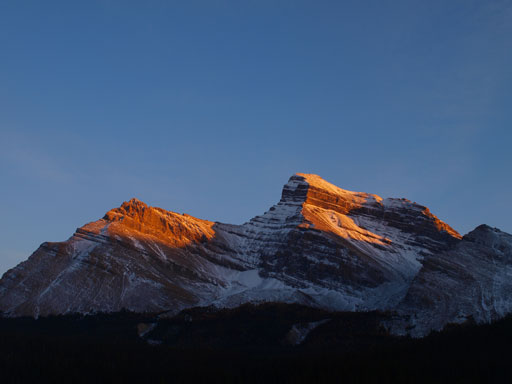 Evening glow on Mount Douglas