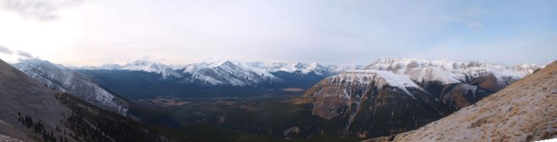 Panorama from above treeline.