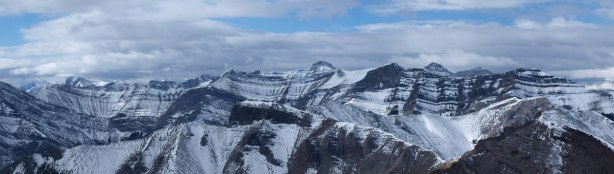 The biggest peak is Mount Townsend, highest in the group east of Canmore.
