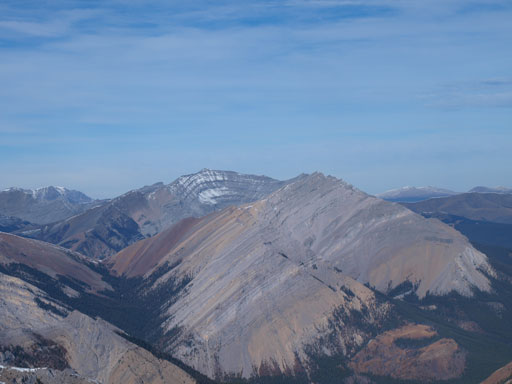 Barrier Mountain (back) and Dormer Mountain (front) almost blend together