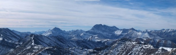 Panorama view of some impressive peaks in Palliser Range