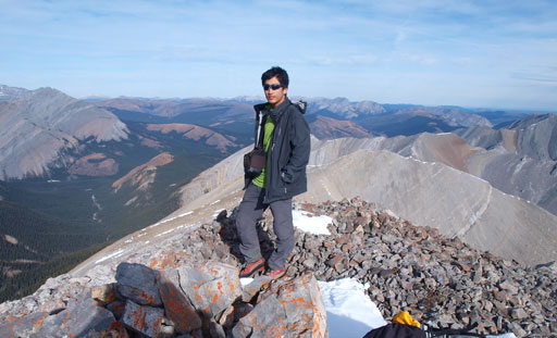 Me on the summit of Otuskwan Peak