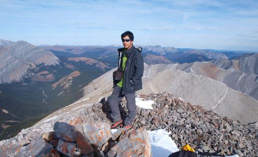 Me on the summit of Otuskwan Peak