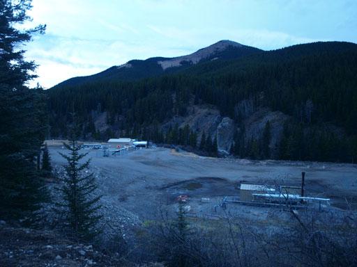 A chemical plant near the trail-head