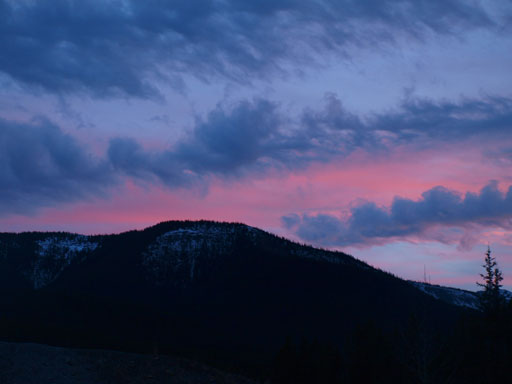 Evening colours from trail-head.
