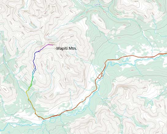 Wapiti Mountain scramble route