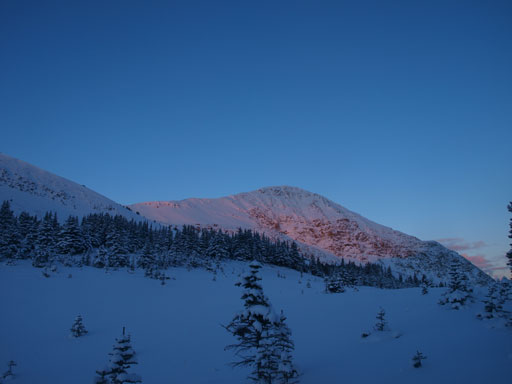 Alpenglow on Elysium Mountain