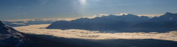 Inversion in Miette River Valley